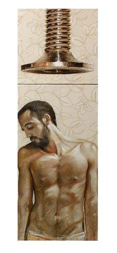 Oleo sobre lienzo pegado a tabla 40×120 (díptico)