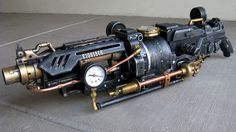 Goliathon Steampunk Nerf Gun Yes, it's not even a real weapon. The attention to detail is impressive, and though steampunk isn't always my thing, I think a lot of the art put into the weaponry is lovely. Steampunk Shop, Steampunk Kunst, Steampunk Accessoires, Steampunk Weapons, Steampunk Gadgets, Steampunk Fashion, Steampunk Crafts, Fashion Goth, Steampunk Outfits