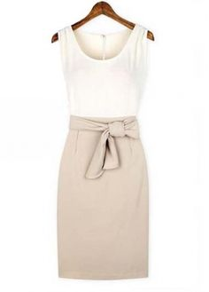 Sleeveless Two Color Dress