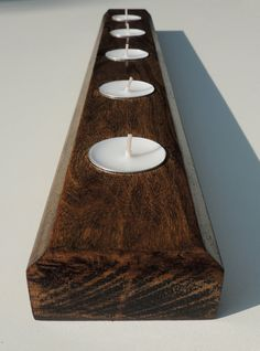 Wooden Table Runner  Tealight Table Runner  by FreeStateCrates, $17.00
