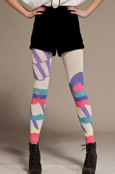 Awesome color block/paint splash Tights