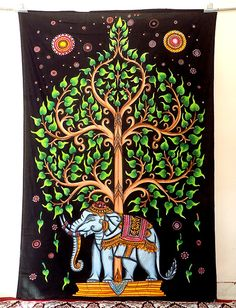 Twin Tree of Life Elephant Tapestry Wall Hanging Hippie Bedding Cotton 2665 – Hazir Site Tree Tapestry, Tapestry Beach, Indian Tapestry, Mandala Tapestry, Tapestry Wall Hanging, Wall Hangings, Hippie Bedding, Beach Bedding, Luxury Bedding