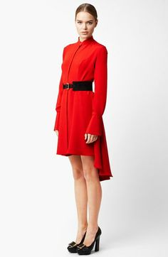 Alexander McQueen Long Sleeve Silk Dress available at #Nordstrom
