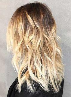 Dark Roots Light Ends Blonde Balayage