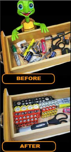 Today is National Battery Day- here is a great product to help you organize yours!  Use coupon code GETORG before 3/31/14 to receive free shipping.