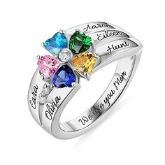 Shiny Alice Engraving Infinity Friendship Rings for Women Personalized Sisters Best Friends Rings Engagement Wedding Bands Promise Name Rings