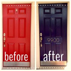 Now we have one of the 10 best front door colors. Majestic Purple @ Sherwin Williams