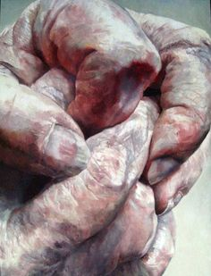 """Shirley Faktor: Handpainted oil on canvas, """"These contemporary oil paintings of a human hand, by Faktor, are really some of the most powerful I have ever seen!"""" ~js [See my board: Art, by Shirley Faktor) Figure Painting, Figure Drawing, Painting & Drawing, A Level Art, Gcse Art, Hand Art, Life Drawing, Figurative Art, Art Projects"""
