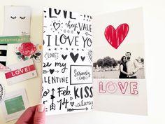 Le 10 février dernier, j'ai proposé un mini album sur le thème de l'amour sur le blog de Crate Paper, avec la très jolie collection HELL...