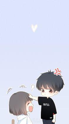 Anime Couples Drawings, Anime Couples Manga, Cute Anime Couples, Manga Anime, Anime Art, Anime Couples Hugging, Cute Chibi Couple, Cute Couple Art, Anime Love Couple