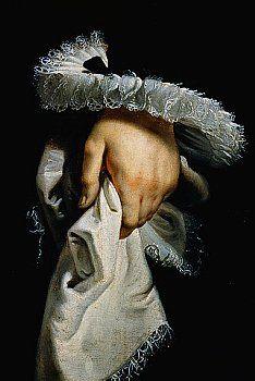 Portrait de l'archiduchesse Isabelle Claire Eugénie, Peter Paul Rubens Détail