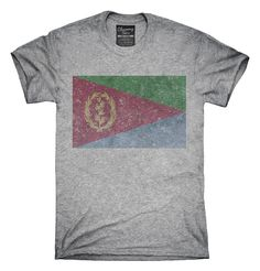 Retro Vintage Eritrea Flag T-Shirts, Hoodies, Tank Tops