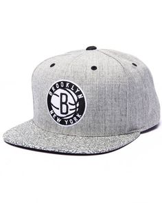 The DrJays.com x Mitchell & Ness exclusive Brooklyn Nets Heathered & Pebbled Edition Custom snapback hat!