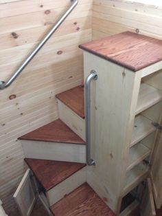 """tinyhousedarling: """" Spiral Staircase from Bear Creek Carpentry Company """""""