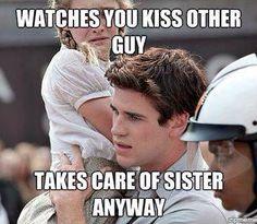 The Hunger Games, Hunger Games Memes, Hunger Games Fandom, Hunger Games Catching Fire, Hunger Games Trilogy, Katniss Everdeen, Liam Hamsworth, Team Gale, Gale Hawthorne