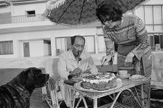 29 Jul Alexandria, Egypt --- Egyptian President Anwar Sadat has cake and tea with his wife Jehan at their summer home in Alexandria. --- Image by © Geneviève Chauvel/Sygma/Corbis Old Egypt, Ancient Egypt, Egyptian Newspaper, Man Of Peace, Relaxing Tea, Rich Image, Islamic Art Calligraphy, Photo Library, Royalty Free Photos
