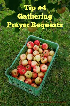 31 Days of Women's Ministry Tips - Tip 4 - Gathering Prayer Requests