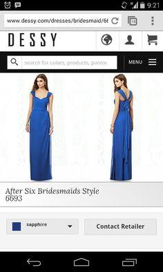 After six bridesmaid 6693