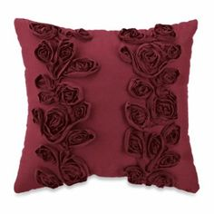 Sonoma Square Toss Pillow in Merlot - BedBathandBeyond.com