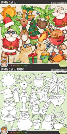 """Tropical Christmas digital scrapbooking elements 