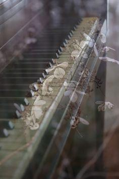 piano double exposure