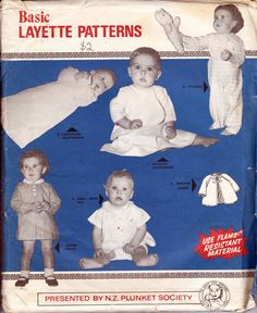 Vintage Baby Layette Pattern New Zealand by allthepreciousthings, $26.00