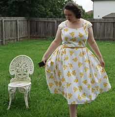 Aux Belles Choses: Bright White and Yellow Butterick 6175