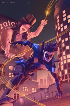 Nightwing and Zatanna by Pryce14.deviantart.com on @DeviantArt
