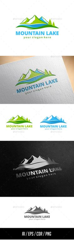 Mountain Lake Logo Template — Vector EPS #landscape #software • Available here → https://graphicriver.net/item/mountain-lake-logo-template/11433813?ref=pxcr