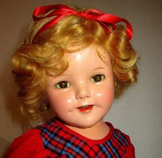 Composition Shirley Temple Doll Rare Makeup Doll Late 1930's Nice Condition by suburbantreasure on Etsy
