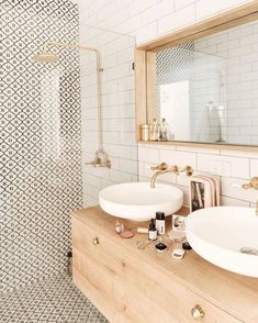 bathroom inspiration modern bathroom style inspiration Tips For Bathroom Design You might be buildin Feminine Bathroom, Minimal Bathroom, Small Bathroom, Bathroom Wall, Neutral Bathroom, Washroom, Boho Bathroom, Bathroom Modern, Remodel Bathroom
