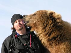 Casey Anderson and Brutus