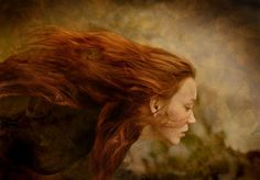 The Power of Hair Hair In The Wind, Blowin' In The Wind, Gorgeous Redhead, Beautiful, Blue Green Eyes, Storybook Characters, High Fantasy, Fashion Poses, Ginger Hair