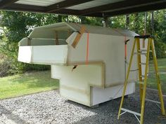 One Guy's Slide-In Truck Camper Project: construction of camper