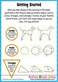 You can teach your kid to draw with simple tricks by letting them to do it through different shapes.