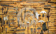 Old tools on the wall by Nomadsoul1, via Dreamstime...Pretty...