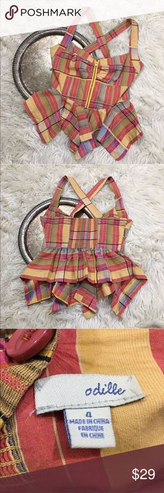 """Anthro Odille plaid top Anthropologie Odille top, women's size 4. Bust 32"""" waist 27"""" length 23.5"""" Anthropologie Tops Blouses"""