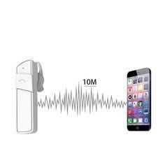 A7 Smart Stereo Bluetooth Headset Hands-Free Wireless Headphone Earphone with Mic - White