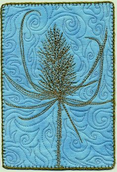Teasel mini quilt by Sarah Ann Smith