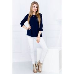 Bluza bleumarin de dama casual-eleganta #marimimari #bluzedama #pentrufemei #office #casual #promotii #cumparaonline Cardio Training, Workout, Black Friday, White Jeans, Casual, Model, Fashion, New Fashion, Sporty