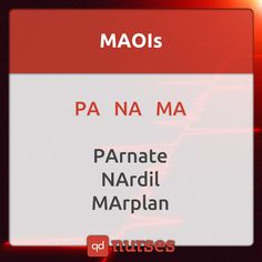 Know your MAOIs! Visit http://qdnurses.com/qdmemes for your daily dose of nursing education! #nclex #nursing #nclextips #nclex_tips #nurse #nursingschool #nursing_school #nursingstudent #nursing_student