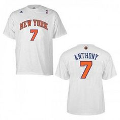 adidas Knicks Carmelo Anthony Home Game Time T-shirt Time T 2ac1fee88