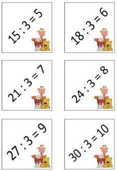 Zoals ik eerder al vertelde wil ik van elke maal- en deeltafel een kaartje mét de oplossing maken. Het valt me op dat bepaalde oefeningen do... Fun Learning, Google Drive, Playing Cards, Teaching, Cool Stuff, Math, School, Tips, Ideas