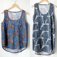 Tank Sewing Pattern  - this looks like the pattern we used in our NW Ohio Modern Quilt Guild tank-top sew-in!