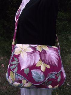 Vintage Barkcloth Sarah Handbag Rare Bright by VintiqueDesigns, $80.00