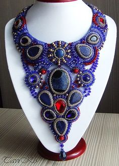 Beautiful embroidered jewelry by Taviko Click on link to see more photos - http://beadsmagic.com/?p=8669