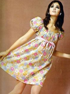 Colleen Corby  1968 - Love this dress!  I made so many like this!// I was a too busty to look like her but I wore it anyway!