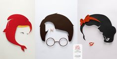 """Amazing Poster Series Campaign """"Come with a Story and Leave with Another"""" by Bogota-based graphic design studio Lowe-SSP3. Snow White and Sherlock Holmes, Harry Potter and Troy, Llttle Red Riding Hood and Moby Dick are the protagonists"""