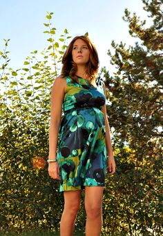 How to: Alter a Regular Dress Pattern to Make a Maternity Dress with a Tulip Skirt