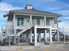 Johnson Bayou, LA Library built after Hurricane Rita destroyed Cameron Parish in 2005